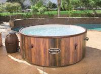 Nafukovací vířivý bazén Bestway dřevěného vzhledu