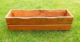 Zahradní květináč truhlík 64 cm dřevěný