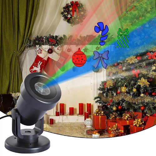 Levný vánoční laserový LED projektor