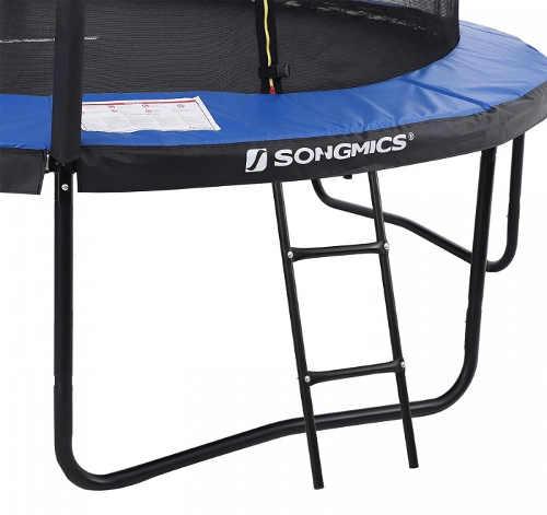 Modro-černá fitness trampolína