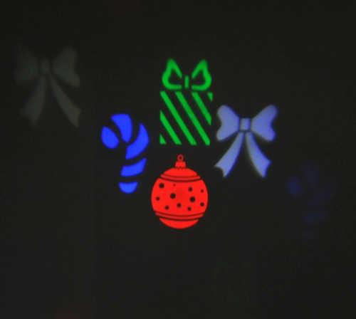 Promítač vánočních motivů na stěnu domů