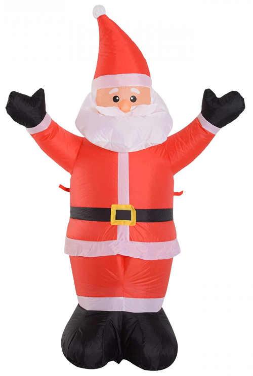 Svítící Santa před vchodové dveře