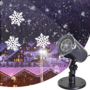 Vánoční laserový LED projektor vločky