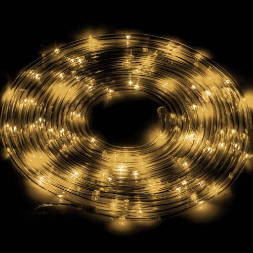 Vánoční osvětlení terasy svítící LED trubice