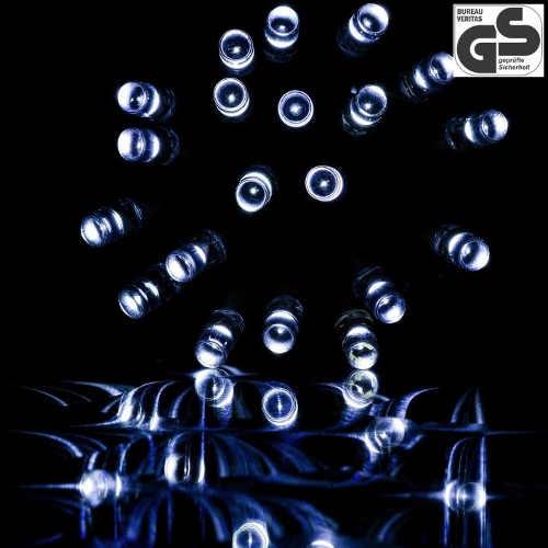 Vánoční světelný řetěz s diodami studeně bílé barvy