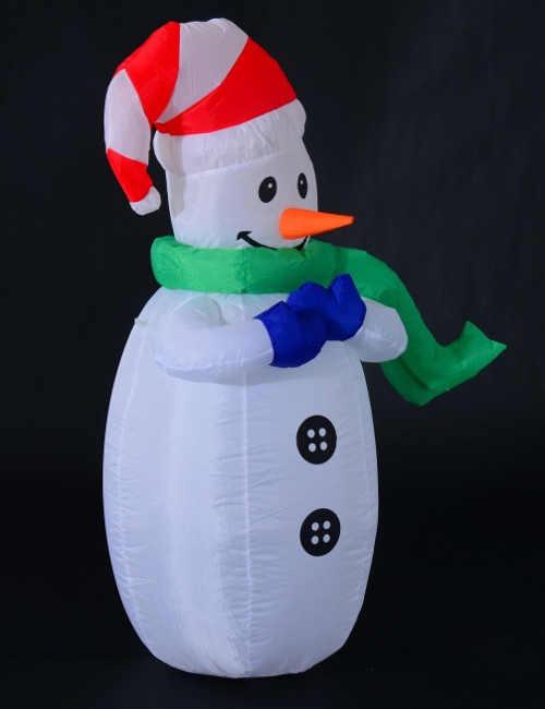 Vánoční svítící dekorace nafukovací sněhulák