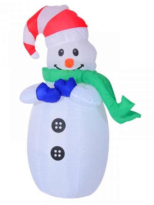 Venkovní nafukovací sněhulák s osvětlením