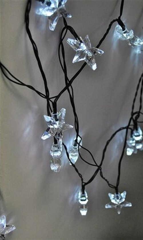 Svítící LED hvězdičky na vánoce