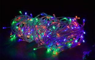 Barevný vánoční LED řetěz 40m 400 diod