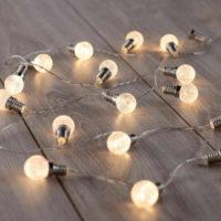 DecoKing Světelný řetěz Kuličky teplá bílá 20 LED
