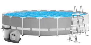 Nadzemní bazén s nerezovou kovovou konstrukcí Intex Prism Frame 6,10 x 1,32 m