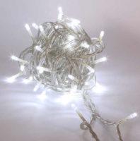 Světelný řetěz 8m - ledově bílá s flash