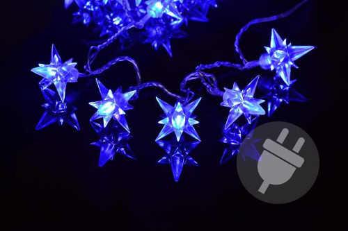 Světelný řetěz se 40 hvězdičkami