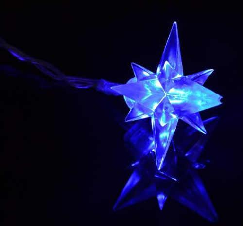 Svítící vánoční led hvězdička