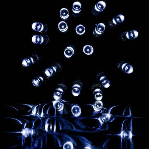 Vánoční osvětlení světelný déšť se studeně bílými led diodami