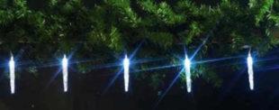 Vánoční řetěz svítíci rampouchy levně