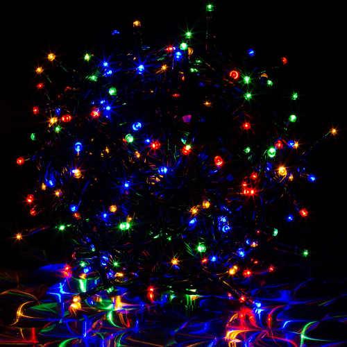 Barevný vánoční LED řetěz s časovačem