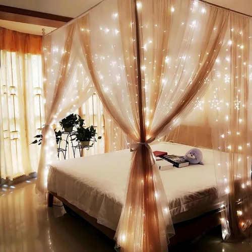 LED osvětlení nebes postele