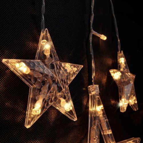 Svítící LED vánoční hvězdy