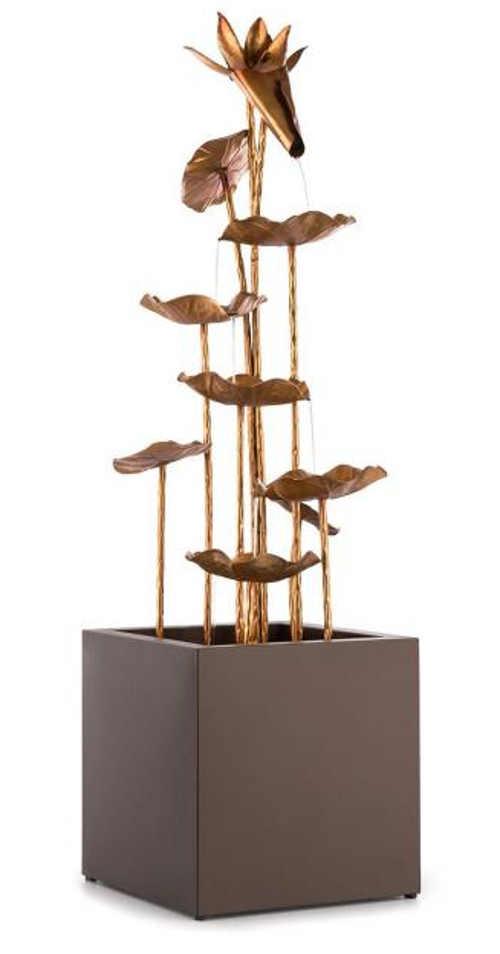Dekorativní mosazná fontána zlatá orchidej