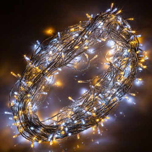 Dvoubarevný vánoční svítící řetěz 40m