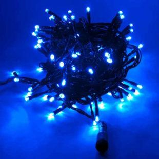Prodloužitelný modrý světlený vánoční řetěz