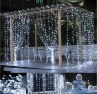 Světelné dekorativní osvětlení ve formě LED závěsu 3x3 m