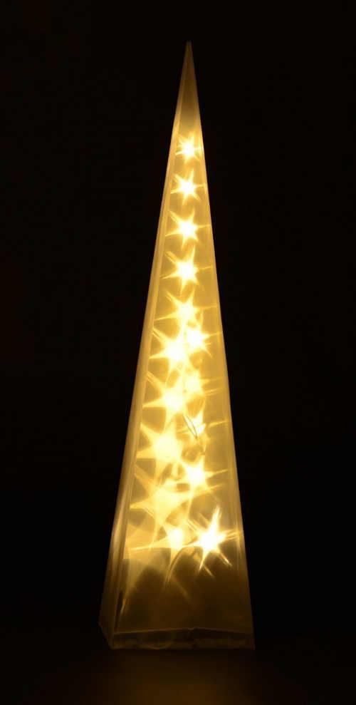 Svítící pyramida s LED žárovkami