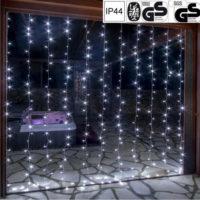 Vánoční LED světelný závěs 3 x 6 m 600 diod studená bílá