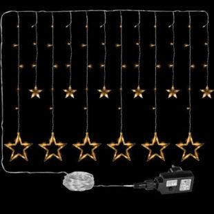 Vánoční závěs ze svítících LED hvězd