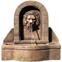 Zahradní kašna s hlavou lva 50 x 54 x 29 cm