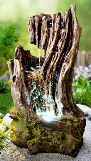 Zahradní kašna Natura starý pařez