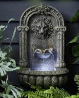 Závěšná kašna v antickém stylu s LED osvětlením vodní plochy