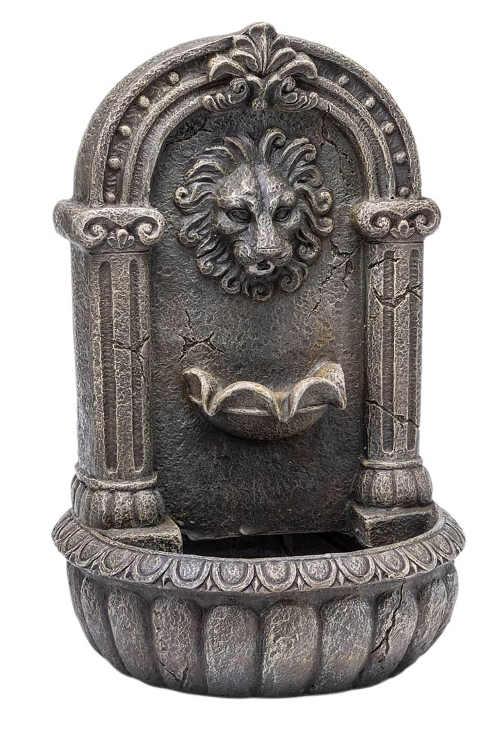 Závěsná zahradní fontána s hlavou lva