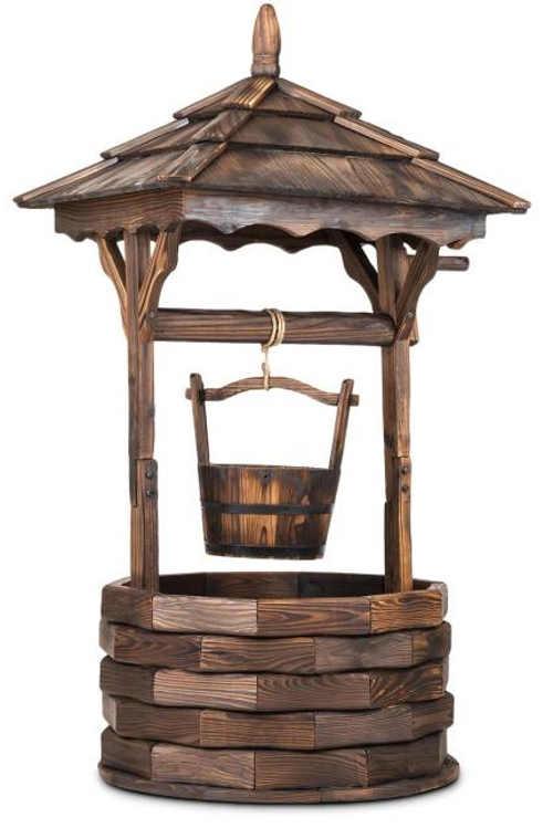 Dekorativní zahradní studna z jedlového dřeva