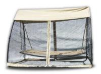 Luxusní houpací postel s moskytiérou na zahradu