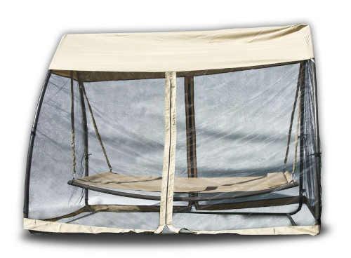 Luxusní na houpací postel s moskytiérou na zahradu