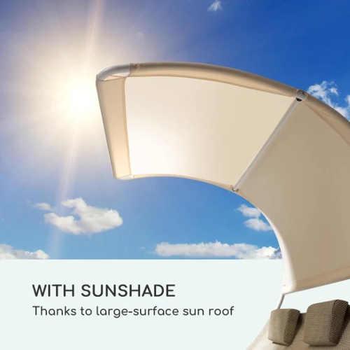 Ochranná stříška lehátka proti slunečním paprskům