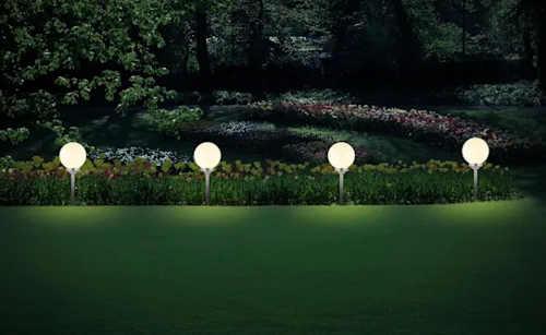 Velké zapichovací zahradní solární osvětlení