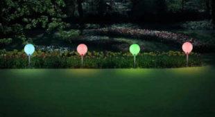 Zapichovací zahradní osvětlení s RGB barevným spektrem