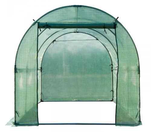 Čtyřmetrový zahradní fóliovník s velkým vstupem