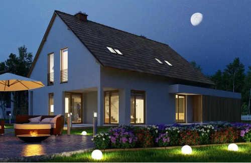 Osvětlení zahrady pomocí kulatých lampiček