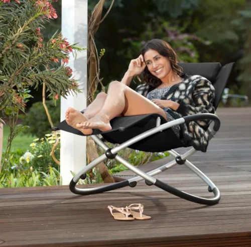 Pohodlné relaxační křeslo na terasu