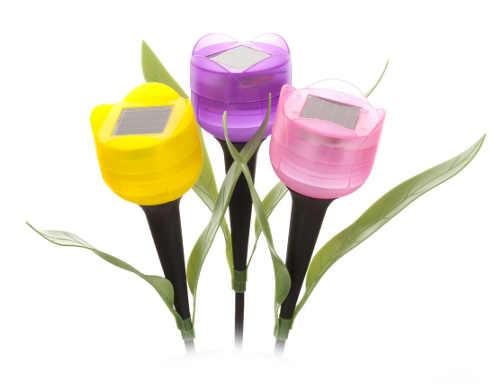 Solární svítící květiny pro zapíchnutí do záhonu
