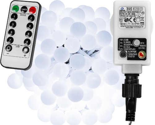 Svítící LED řetěz s dálkovým ovladačem na párty i na vánoce