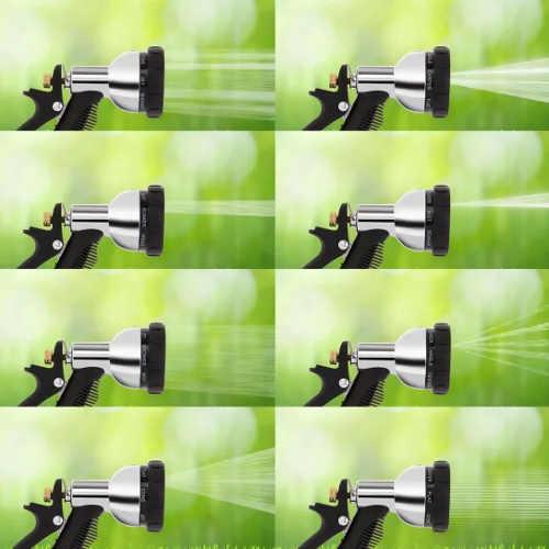 Velké množství variant nastavení rozprašovače zahradní hadice