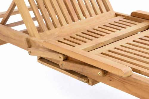 Zahradní lehátko z kvalitního týkového dřeva