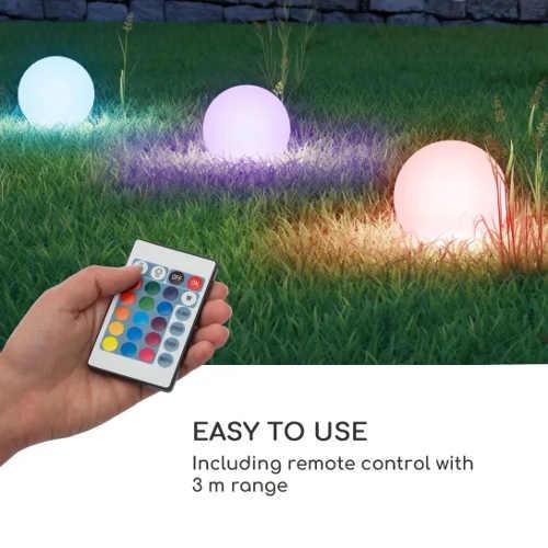 Zahradní osvětlení trávníku s dálkovým ovladačem