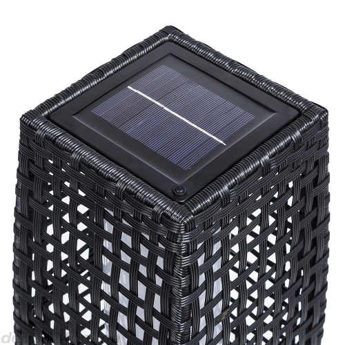 Zahradní stojací led světlo se solárním panelem