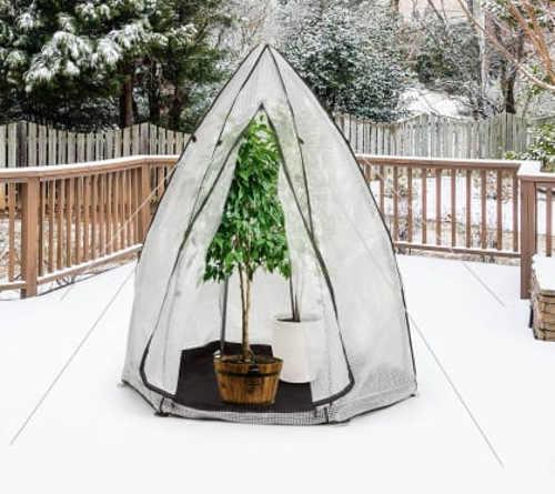 Malý stabilní zimní skleník